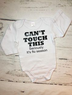 Can't touch this/Baby shower gift/custom baby gifts/newborn baby/flu season baby. - Can't touch this/Baby shower gift/custom baby gifts/newborn baby/flu season baby onesie/preemie ba - Newborn Baby Gifts, Baby Outfits Newborn, Baby Boy Outfits, Newborn Onsies, Funny Baby Clothes, Funny Babies, Preemie Boy Clothes, Baby Flu, Baby Boys