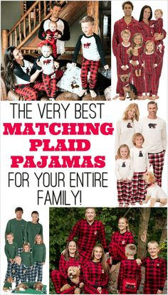 2c56618050 Cute Christmas card idea! Plaid Family Pajamas for the whole family. Matching  Family Christmas