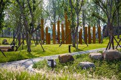 Landscape Architecture, Landscape Design, Linear Park, Memorial Park, Playground, Countryside, Paths, Lawn, Pergola