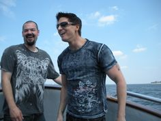 Ghost Adventures: Aaron and Zak on their way to Execution rocks lighthouse.  Love Zak's dawky smile...so cute!