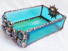 Stained Glass Tarot Box - not my favorite color combo but maybe have Jen make me something like this?