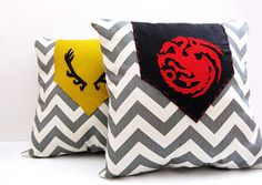 Game of Thrones | Custom House Crest 16x16 Pillow | Home and Fandom Decor | Greyjoy, Stark, Lannister & more