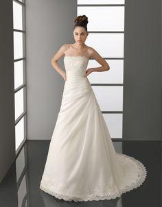 ランディブライダル ウェディングドレス Aライン ビスチェ コートトレーン サイズオーダー 挙式 ブライダル 結婚式 021173034005