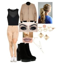 """""""slayyyyy😜"""" by msroro12 ❤ liked on Polyvore featuring LULUS, Jeffree Star, Hogan, Topshop, River Island, Charlotte Russe, Valentino and Too Faced Cosmetics"""