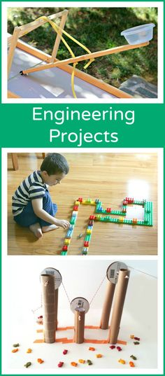 Engineering activities for kids that will get their brains and bodies moving! Grab a free engineering challenge printable for even more STEM fun. 14 Fun Engineering Activities for Kids Stem Science, Preschool Science, Science Fair, Teaching Science, Science For Kids, Physical Science, Earth Science, Science Classroom, Science Centers