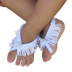Accesorios de bebé bautismo bebé sandalias sandalias