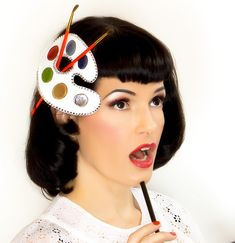 The Artie Artist Art Palette Hat by topsyturvydesign on Etsy, (This is weird, but for some reason I like it.)
