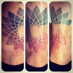 Color wheel/ flower of life/ fractal/ pointillism tattoo