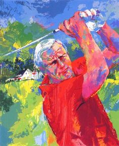 """Arnold Palmer at Latrobe"" painting by Leroy Neiman"