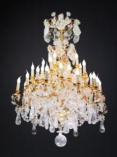 Très beau luminaire en cristal de roche ...