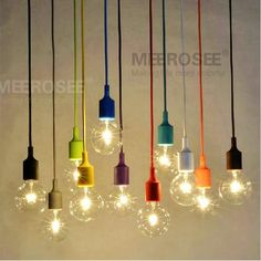 Colorful E27 Socket Pendant Light Suspension Drop Lamp  Modern Vintage Edison Bulbs Bar Restaurant Pendant Lamp. Yesterday's price: US $22.25 (18.41 EUR). Today's price: US $5.79 (4.79 EUR). Discount: 74%.