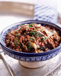 Eggplant and Lentil Stew with Pomegranate Molasses Recipe on Food & Wine