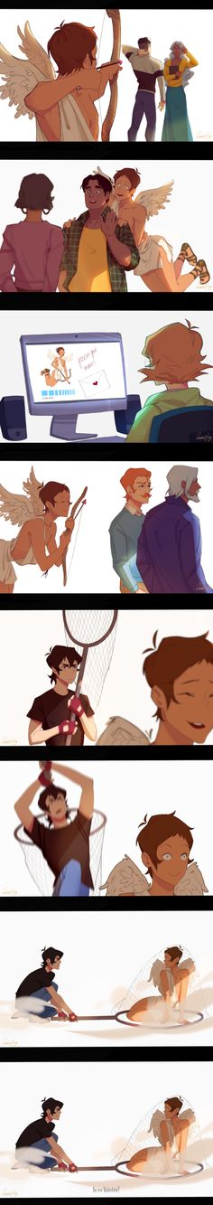 Rachelhuey88 - Tumblr Cupid Lance << ohhh I remember reading a fanfic like this, can't remember the name but it was cool