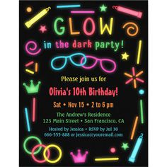 glow in the dark party supply - Google Search