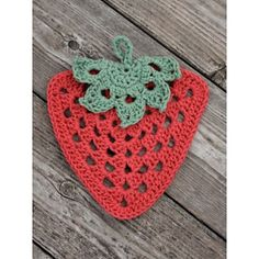 Granny Stawberry Dishcloth By Lily / Sugar'n Cream - Free Crochet Pattern - (ravelry)