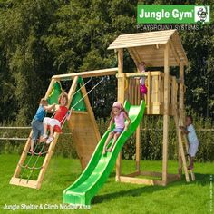 Jungle Gym Shelter - Wooden Climbing Frames for Children - Jungle Gym : Wooden Climbing Frames for children