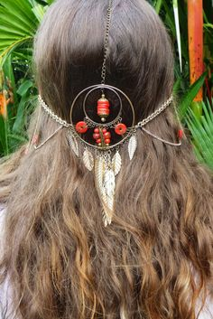 The Shaman's Dreamer Headpiece - Dreamcatcher - Bohemian - Tribal - Belly Dancer - made from recycled materials <3