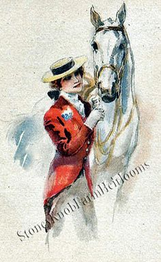 Victorian Lady with Horse ~ Vintage ~ Counted Cross Stitch Pattern SKF178 #StoneyKnobFarmHeirlooms #CountedCrossStitch