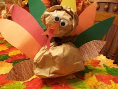 Paper-bag Turkey craft for toddlers