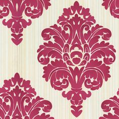 Shop allen + roth Red Strippable Non-Woven Paper Prepasted Wallpaper at Lowes.com