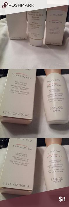 Mary Kay Time Wise Age Reducing Moisturizer 3.3 oz. size of Mary Kay age reducing moisturizer. NOTE: This listing is for the moisturizer ONLY. If all three Mary Kay products are purchased together as a bundle, extra 5% off + bundle discount. Make offer to reflect the discount. Mary Kay Other