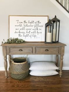 Looking for a furniture making project for the weekend? Running out of something in your workspace for Diy Projects Furniture Living Room Table Design Ideas? Your living room may need a bit of updating and an outdated coffee table must… Continue Reading → Rustic Entryway, Entryway Decor, Foyer, Entryway Ideas, Farmhouse Entryway Table, Entryway Tables, Rustic Decor, Table Design, Diy Design