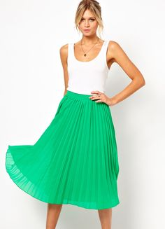 571384ff511b Find asos pleated midi skirt at ShopStyle. Shop the latest collection of  asos pleated midi skirt from the most popular stores - all in one place.