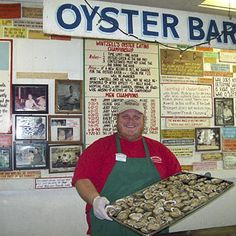 Wintzell's Oyster House, Mobile, AL - 2013 Best Restaurants in the South - Southernliving. What to Order: West Indies Dauphin Street Sweet Home Alabama, Alabama Baby, Mobile Alabama, Best Places To Eat, Along The Way, Oysters, Road Trip, Restaurants, West Indies
