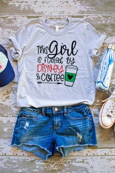 You will love these Theme Park Inspired Vacation Tees! Perfect for your upcoming trip! #ad #disney #coffee