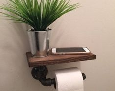 Industrial Toilet Paper holder with shelf, plumbing pipe repurposed industrial d. Industrial Toilet Paper holder with shelf, plumbing pipe repurposed industrial decor, bathroom decor, tp holder Source by Diy Bathroom, Industrial Toilets, Bathroom, Industrial Bathroom Decor, Industrial Decor, Industrial Bathroom, Toilet, Cheap Home Decor, Toilet Paper Holder Industrial