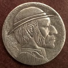 DeChristo - Traditional - Hobo Nickel #4 Hobo Nickel, Coins, Carving, Traditional, Personalized Items, Rooms, Wood Carvings, Sculptures, Printmaking