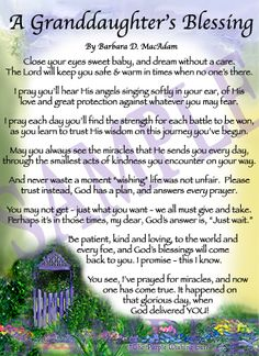 My First Granddaughter Poems | Affordable Inspirational Poem for Sister, birthday blessing gift