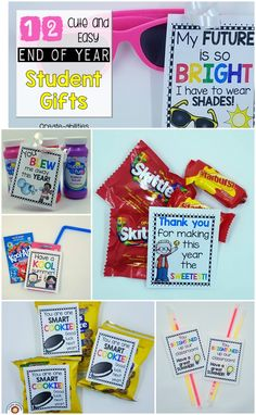 FREE End of Year Student Gift Tags! 12 different options!                                                                                                                                                                                 More