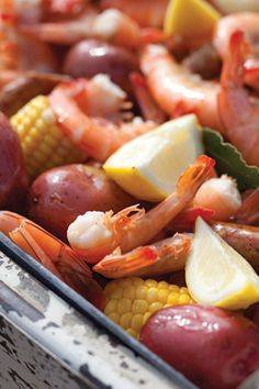 Shrimp Boil.....my brother-in-law makes this...YUMMY!!!