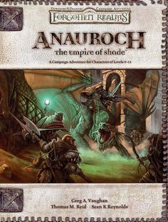 Anauroch: The Empire of Shade (3.5) - Forgotten Realms | Book cover and interior art for Dungeons and Dragons 3.0 and 3.5 - Dungeons & Dragons, D&D, DND, 3rd Edition, 3rd Ed., 3.0, 3.5, 3.x, 3E, d20, fantasy, Roleplaying Game, Role Playing Game, RPG, Open Game License, OGL, Wizards of the Coast, WotC, TSR Inc. | Create your own roleplaying game books w/ RPG Bard: www.rpgbard.com | Not Trusty Sword art: click artwork for source