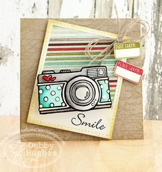 limedoodle, There She Goes stamps, Lil' Inker Designs die, camera, card