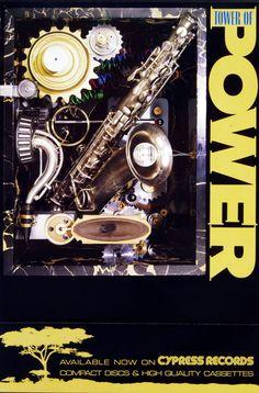 Vinyl Record Store, Vinyl Records, Tower Of Power, See Picture, Jazz, Clock, Album, Display, Concert