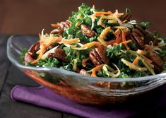 Raw Kale Salad with Root Vegetables Recipe | Vegetarian Times