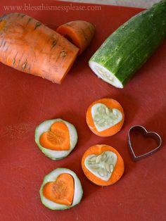 rock the lunch box fancy veggies