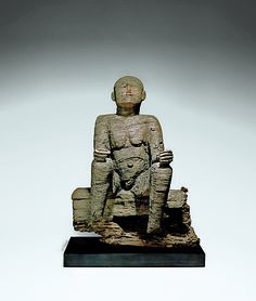 Seated Female Figure Date: 17th–18th century Geography: Nigeria, Ewayon River region, Cross River Province Culture: Mbembe peoples Medium: Wood