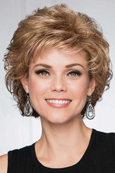 Sensation by Eva Gabor Wigs Curly Hair Cuts, Curly Bob Hairstyles, Trending Hairstyles, Short Curly Hair, Short Hair Cuts, Easy Hairstyles, Curly Hair Styles, Pixie Haircuts, Medium Hairstyles