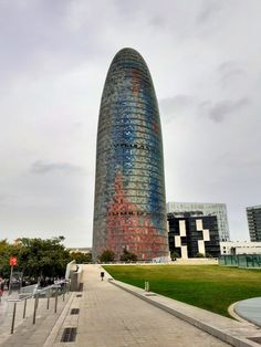 Torre Agbar or Torre Glories Barcelona Architecture, City, Building, Travel, Water Colors, Towers, Barcelona, Viajes, Buildings