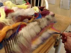Nothing to do with felting except that it is working with wool. I found it fascinating Dizzing  Part 2
