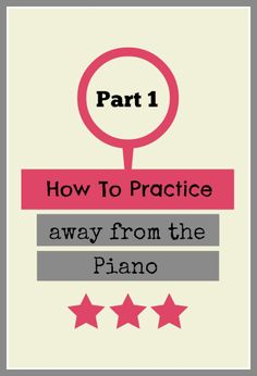 Even if you're not going to be away from your piano... this practice technique will make a huge difference when you're back on the bench! Give this to students who will be away for extended holidays etc. too!