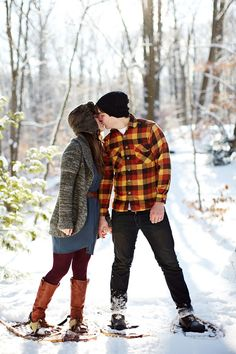 I think Patrick and i will have to have a winter photo shoot this year^_^ A snowy Michigan engagement photo shoot by Bryan and Mae Photography
