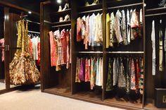 Naeem Khan's ornate designs inside the closet organizer system.