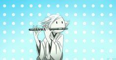 haha.. Mizuki tocando la flauta...