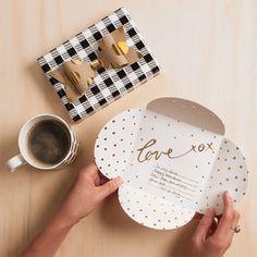 Inky Co. letterpress Love Envelopes