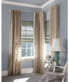 Corner drapery rod hardware for corner windows - Smith and Noble