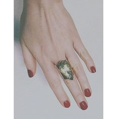COURAGE. Iris & Gold gives a show of hands for our Gold Courage Ring.  The Mood Ring Collection by Kate Hewko // Gold Courage Ring ∙ Raw Green Amethyst crystal on an adjustable cuff ring.  #regram #katehewko #moodrings #goaldigger #thingswelove @katehewko
